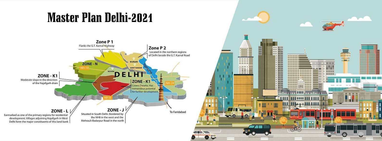 DDA Introduces Changes in the 2021 Master Plan of Delhi