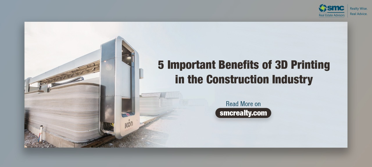 5 Important Benefits of 3D Printing in the Construction Industry