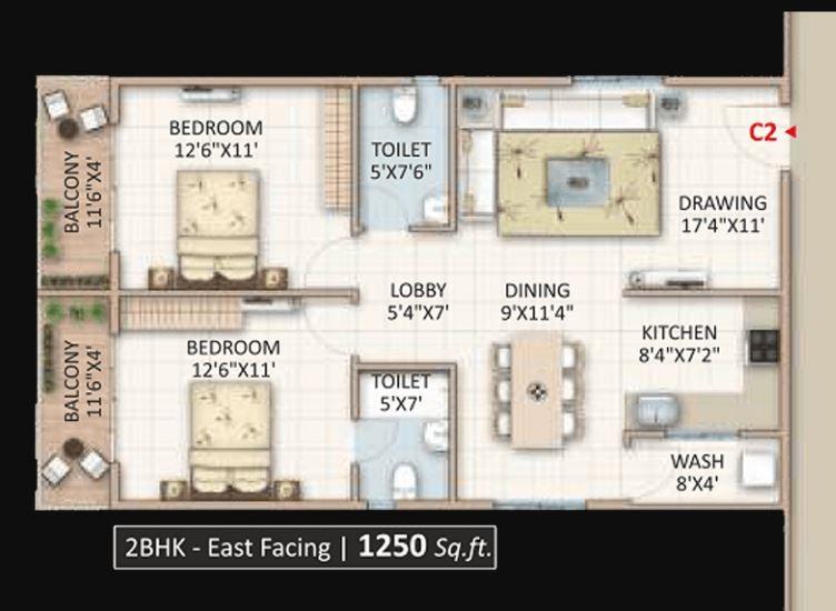 Candeur Landmark Floor Plans Varthur Bangalore