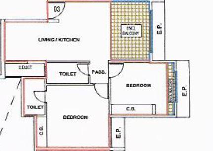 Ashar Sapphire Floor Plans Kapurbawdi Thane