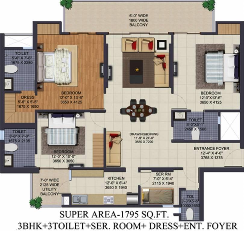 Ajnara Klock Tower Floor Plans Sector 74 Noida