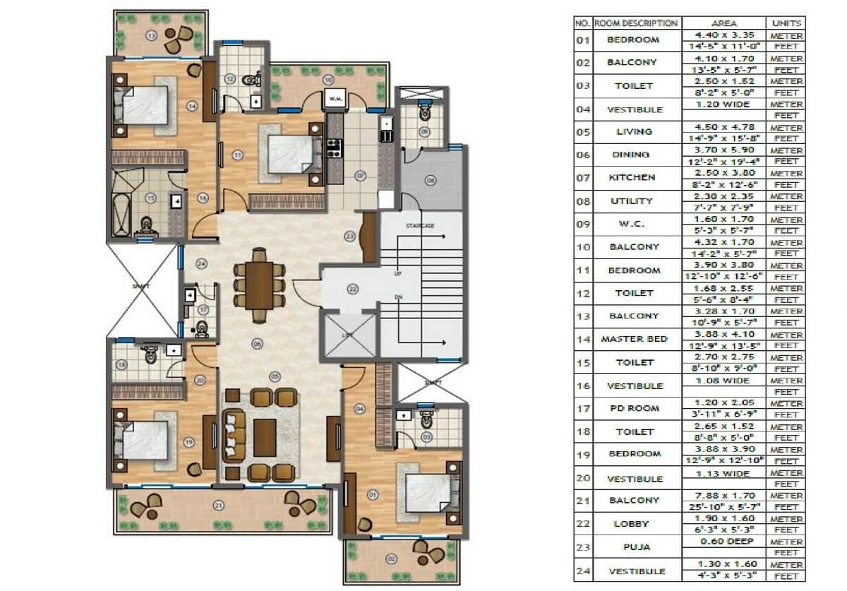 Adani Samsara Floor Plans Sector 60 Gurgaon