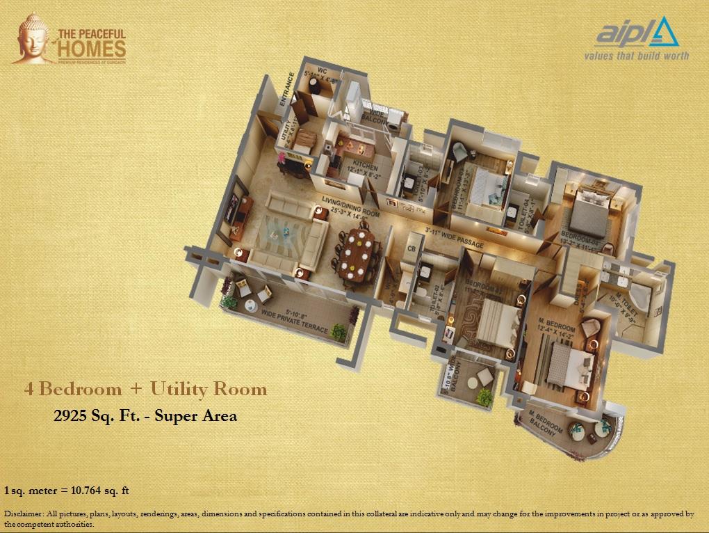 Aipl The Peaceful Homes Floor Plans Sector 70a Gurgaon