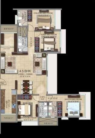 Paradigm Ananda Residency Floor Plans Borivali West Mumbai