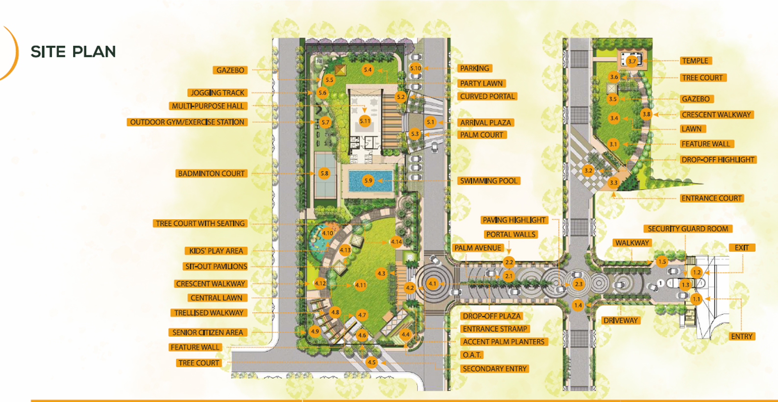 radhu oakwood site plan