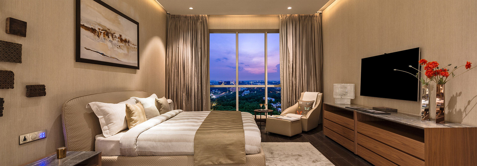 Panchshil Trump Towers BEDROOM