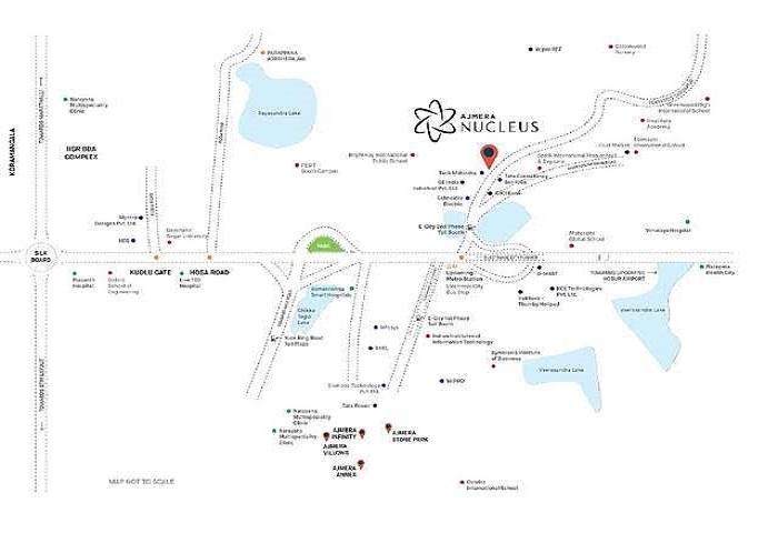Ajmera Nucleus Location Map