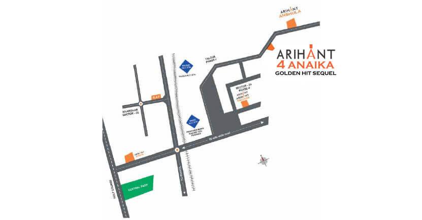 Arihant Anaika 4 Location Map