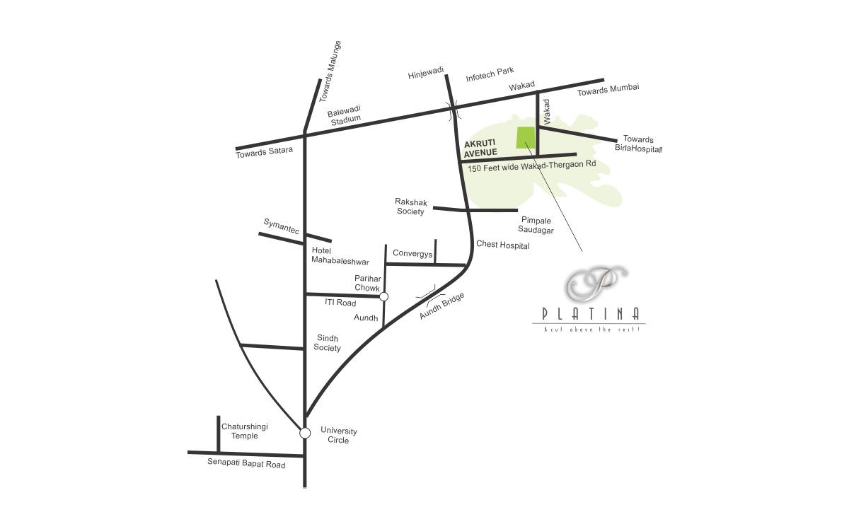Aurum Platina Phase Ii Location Map