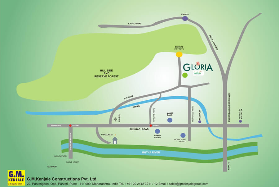 Gm Kenjale Gloria Location Map