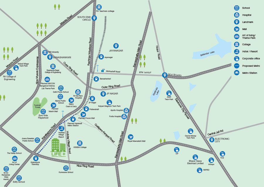 Godrej Life Plus Location Map
