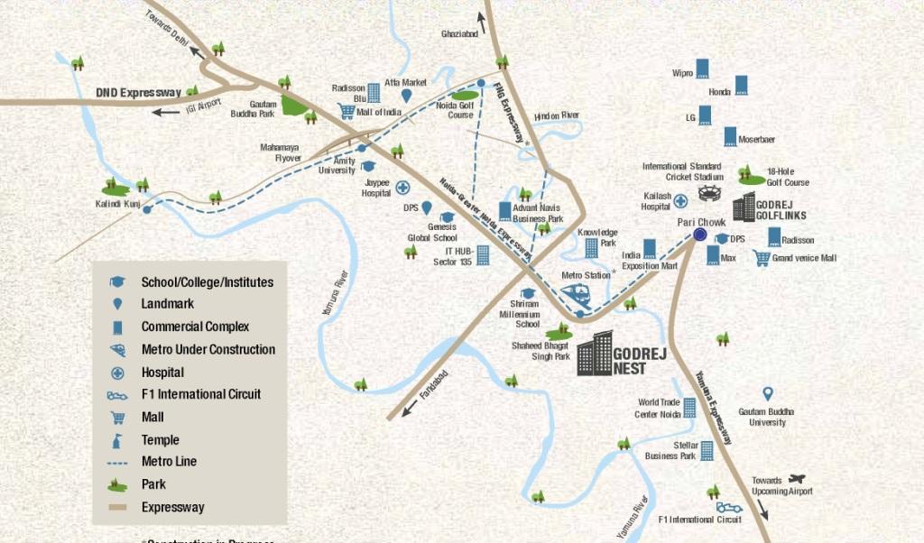Godrej Nest Location Map