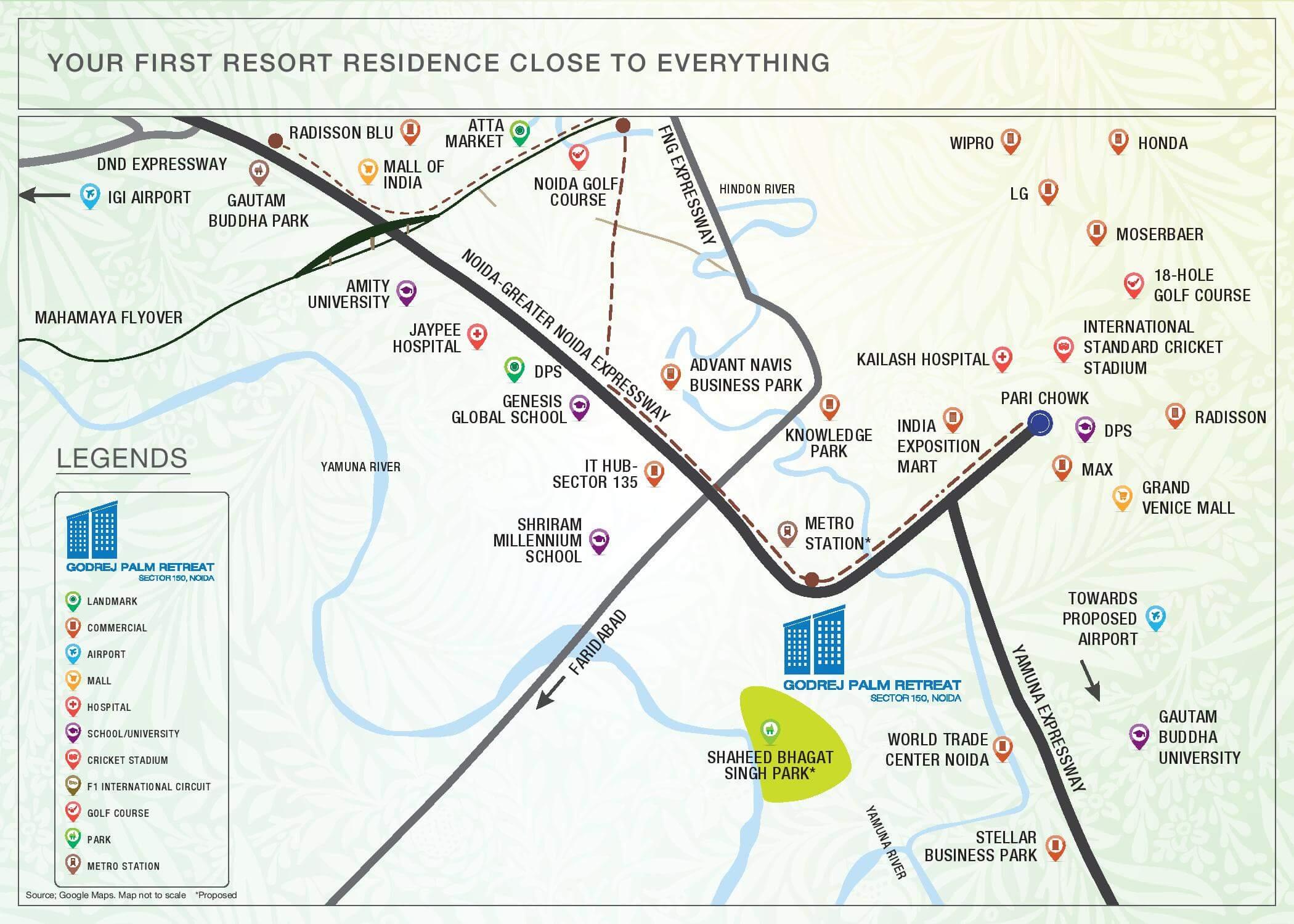 Godrej Palm Retreat Location Map