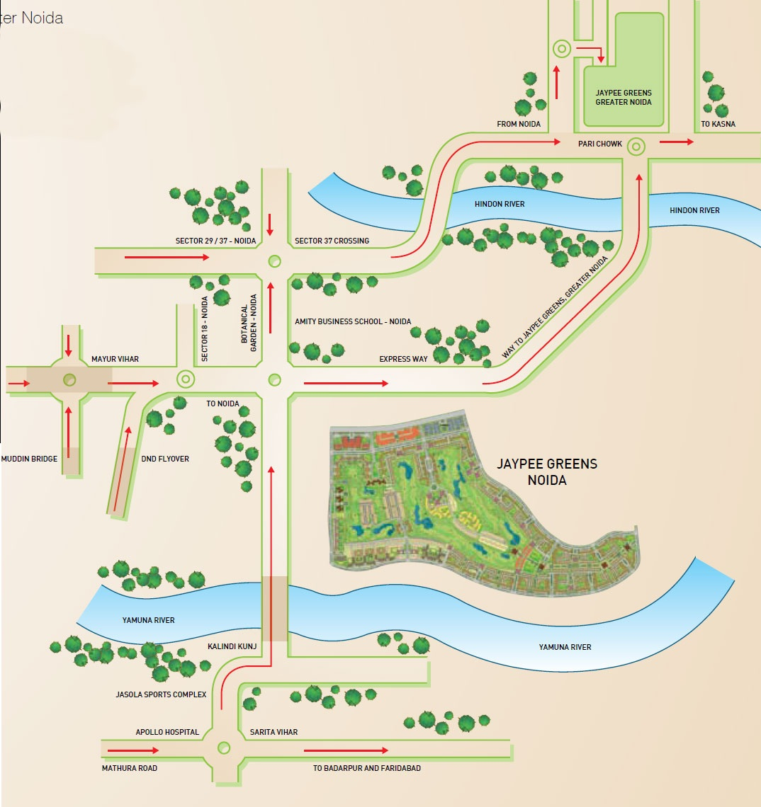 Jaypee The Imperial Court Location Map