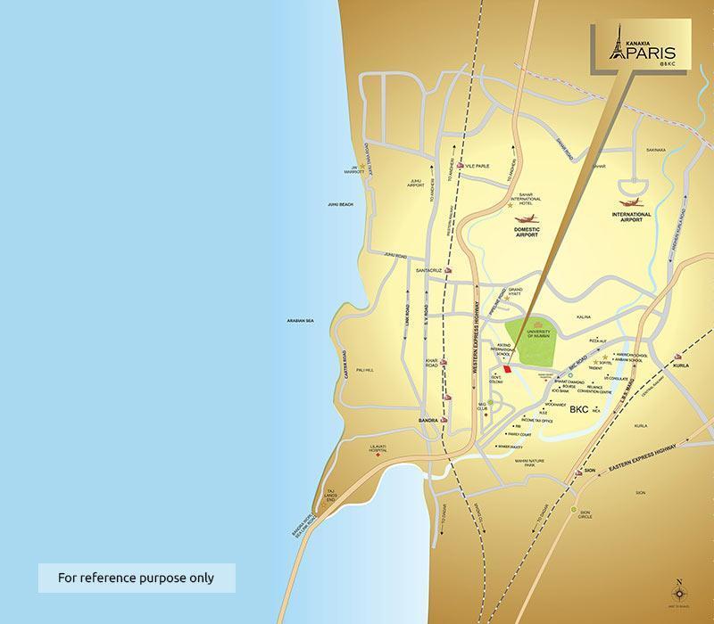 Kanakia Paris Location Map Bandra Kurla Complex Mumbai