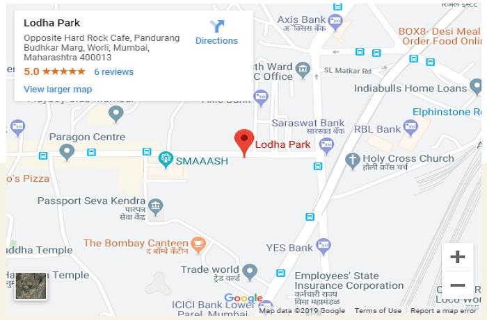 Lodha Allura Location Map