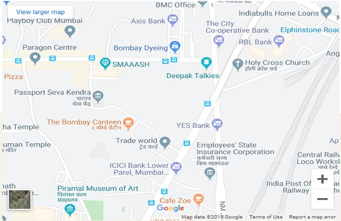 Lodha Parkside Location Map