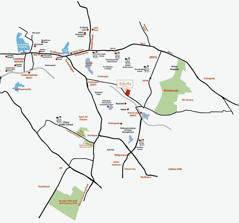 Mahindra Ashvita Location Map