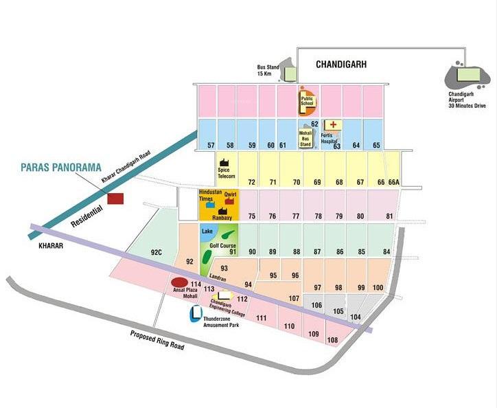 Paras Panorama Location Map
