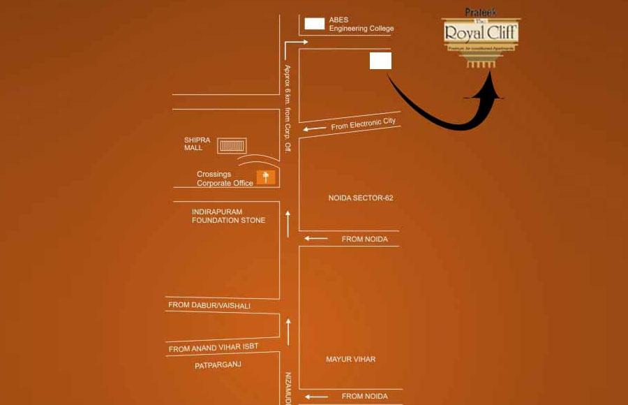 Prateek Royal Cliff Location Map
