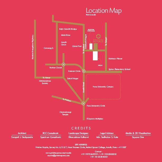 Pristine Royale Location Map