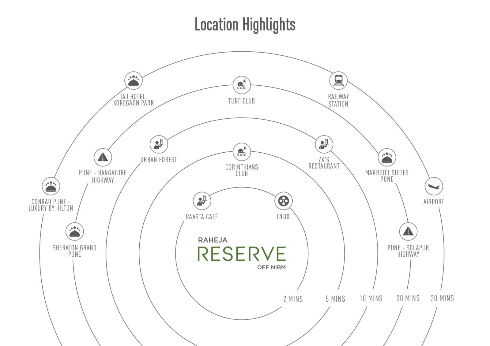 Raheja Reserve Location Map