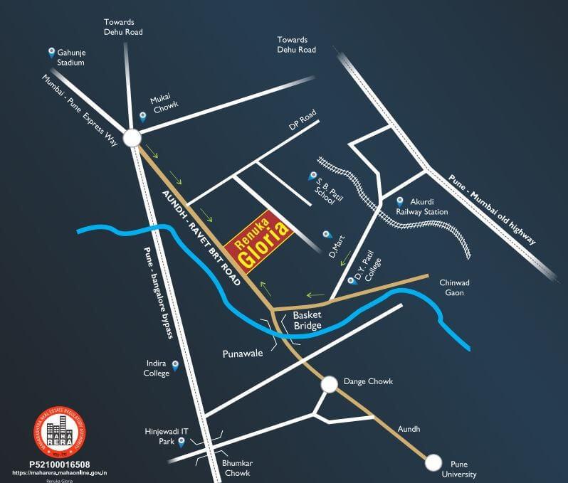 Renuka Gloria Location Map