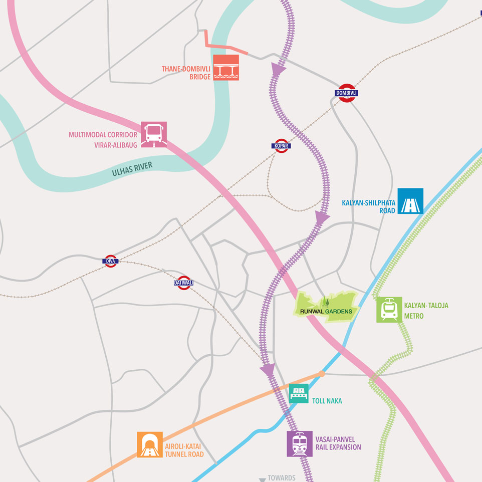 Runwal Gardens Location Map