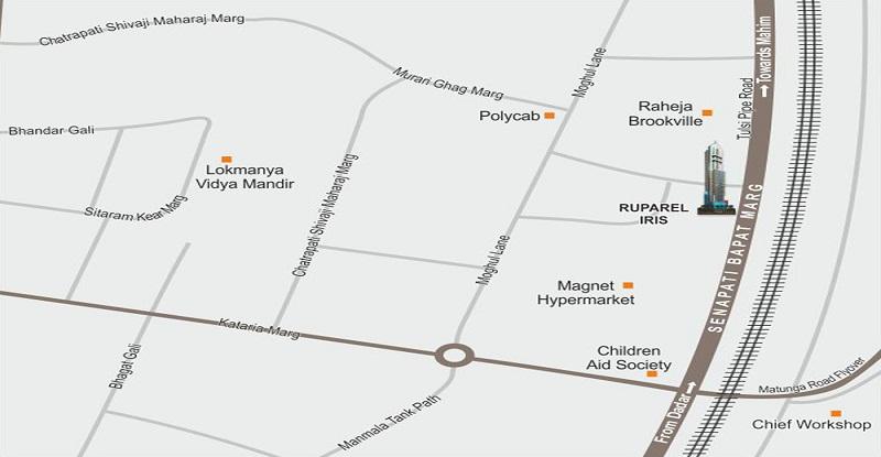 Ruparel Iris Location Map