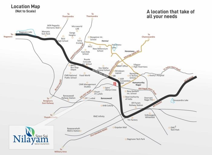 Sadhguru Sri Sai Nilayam Location Map