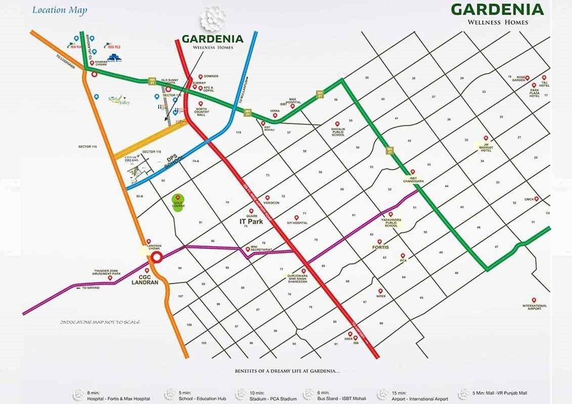 Sbp Gardenia Homes Location Map