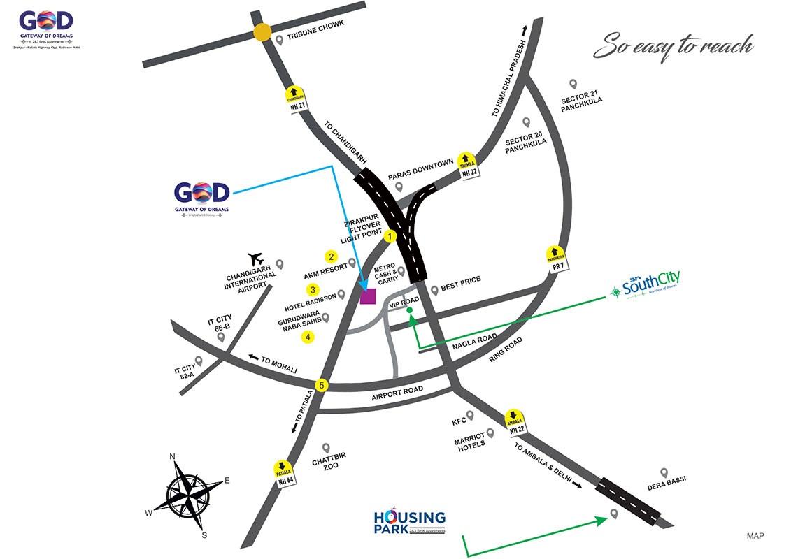Sbp Gateway Of Dreams Location Map