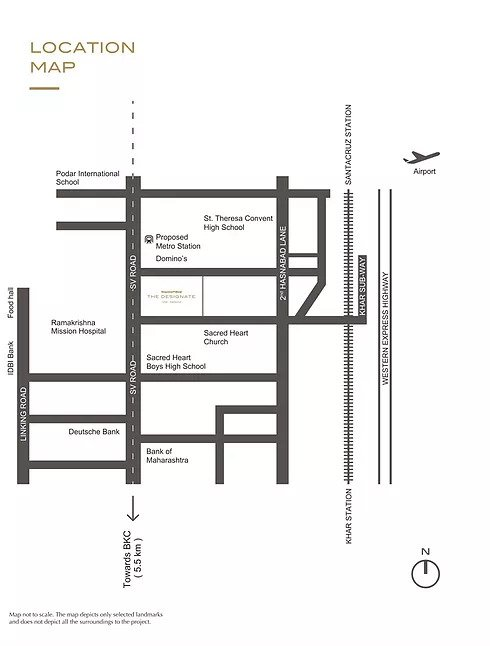 Shapoorji Pallonji Designate Location Map