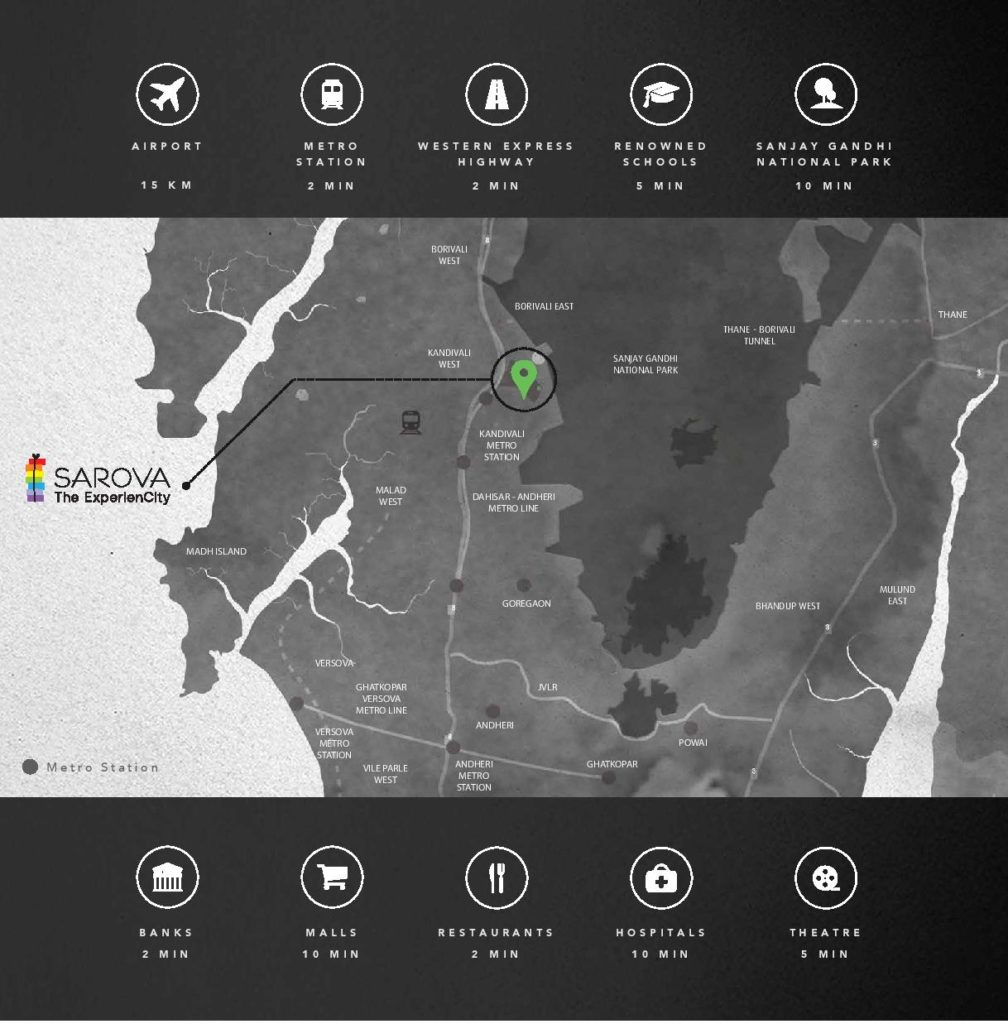 Shapoorji Pallonji Sarova Location Map