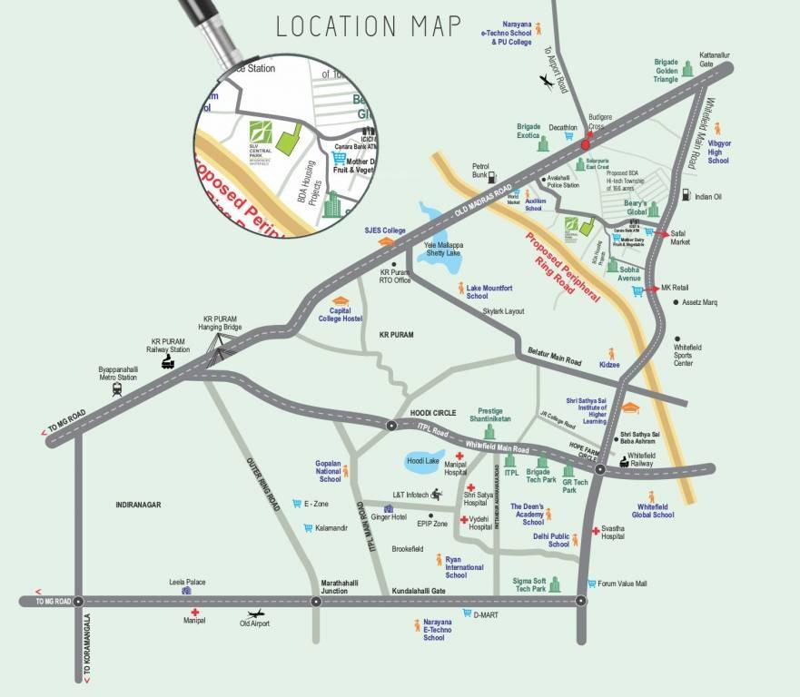Slv Central Park Location Map