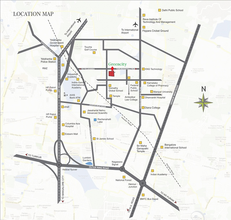 Slv Greencity Location Map