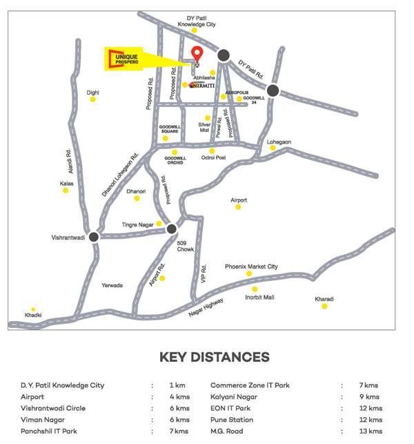 Unique Prospero Location Map