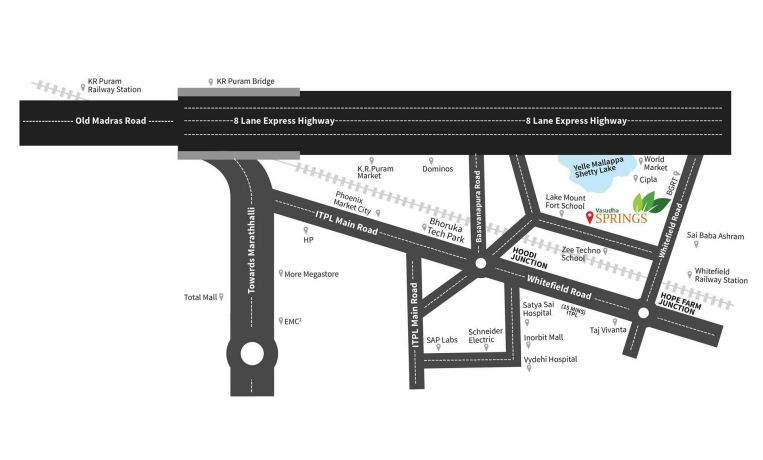 Vasudha Springs Location Map