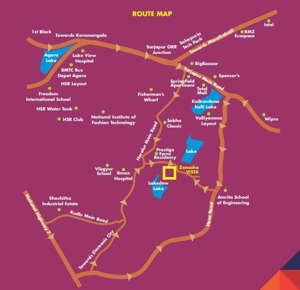 Zonasha Vista Location Map