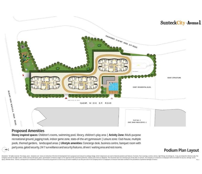 Sunteck City Avenue 1 Master Plan
